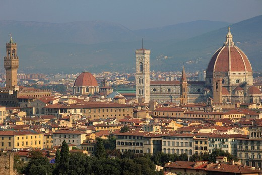 Italy, Tuscany, Florence, skyline, general panoramic view, : Stock Photo