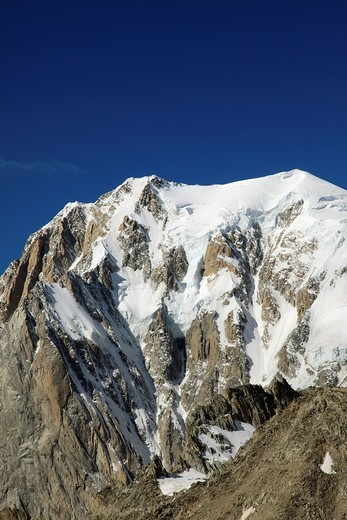 France, Italy, Alps, Mont Blanc, : Stock Photo