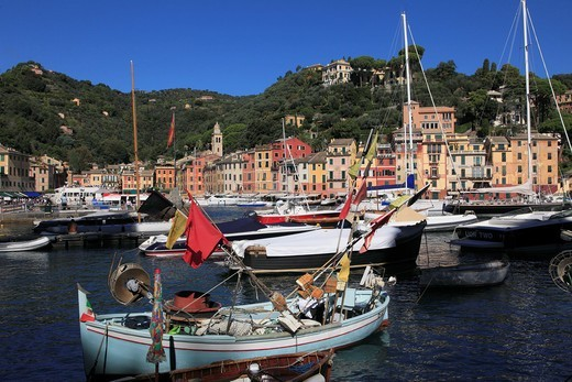 Italy, Liguria, Portofino, harbour, general view, : Stock Photo