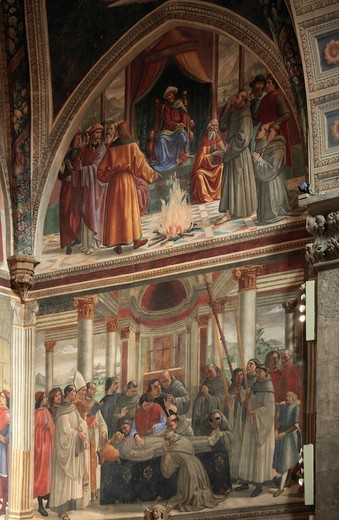 Italy, Tuscany, Florence, Santa Trinita church, frescoes, : Stock Photo