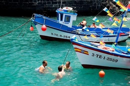 Muelle Pesquero, Puerto de la Cruz, Tenerife, Spain : Stock Photo