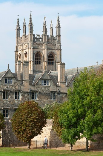UK, England, Oxford  The Chapel of Merton College : Stock Photo