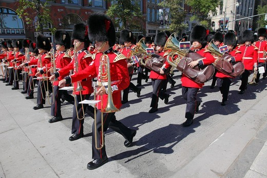Stock Photo: 1566-956055 Canada, Ontario, Ottawa, Canadian Forces Ceremonial Guard,