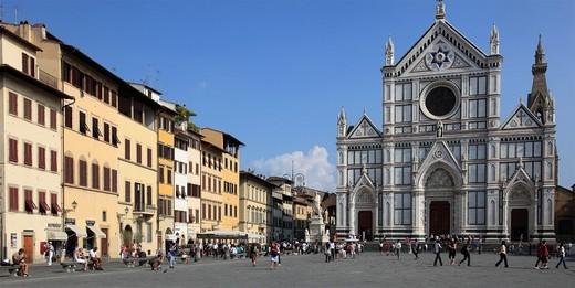 Italy, Tuscany, Florence, Basilica Santa Croce, : Stock Photo
