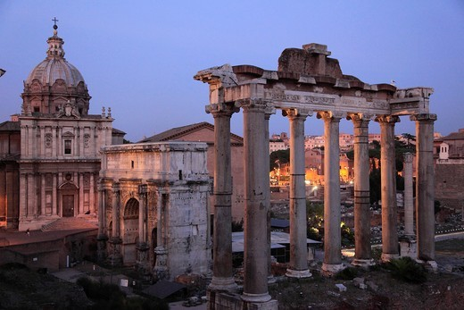 Italy, Lazio, Rome, Roman Forum, SS Luca and Martina Church, : Stock Photo