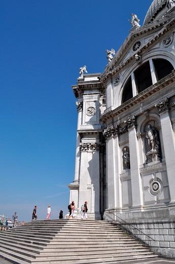 Venezia (Italy): the Basilica of Santa Maria della Salute : Stock Photo