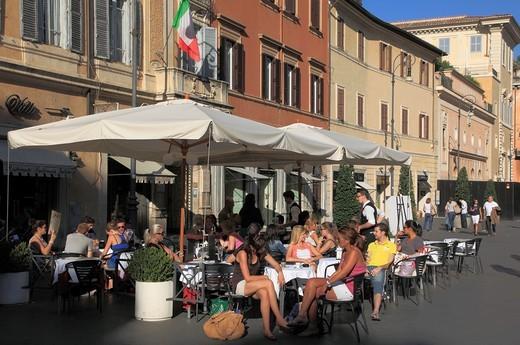 Italy, Lazio, Rome, Piazza di San Lorenzo in Lucina, cafe, people, : Stock Photo