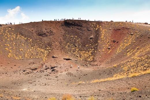 Crateri Silvestri, Silvestri Crater, Mount Etna, Sicily, Italy : Stock Photo