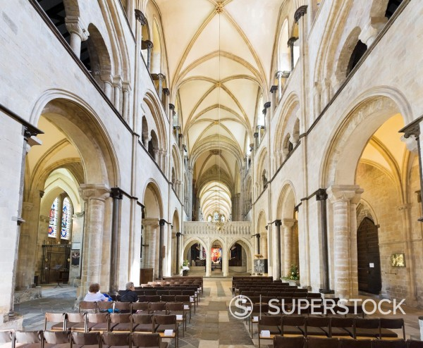 Cathedral interior, Chichester, West Sussex, England, UK : Stock Photo
