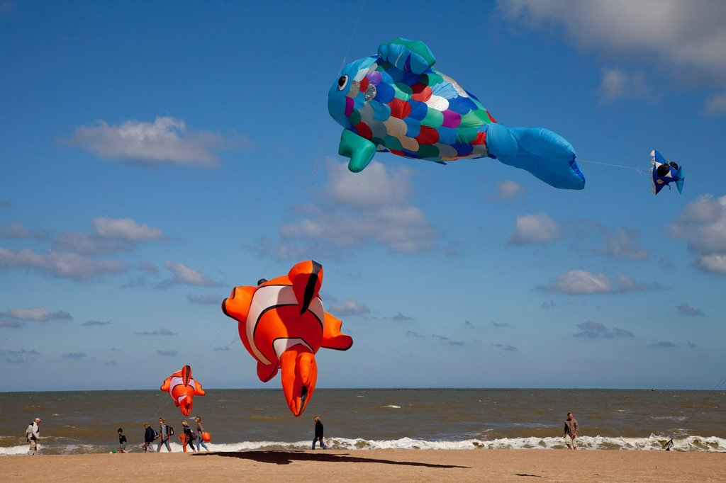 Stock Photo: 1566-960341 International Kite Festival in Ostend, Belgium, Europe