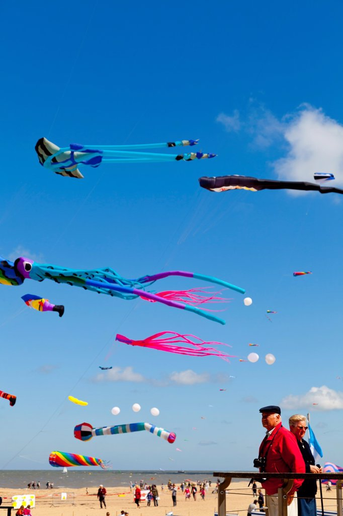 Stock Photo: 1566-960344 International Kite Festival in Ostend, Belgium, Europe