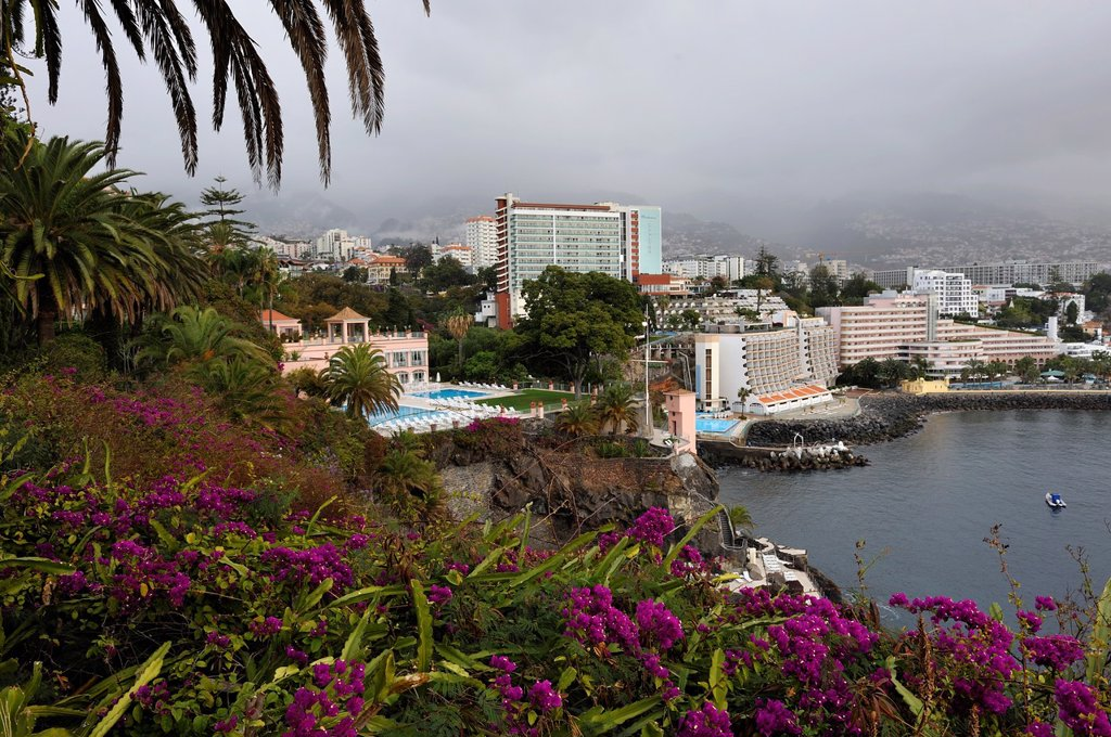 Reid´s Palace, Funchal, Madeira island, Atlantic Ocean, Portugal : Stock Photo