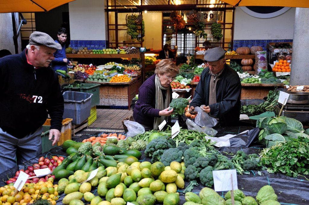 Stock Photo: 1566-961036 farmers Market Hall, Funchal, Madeira island, Atlantic Ocean, Portugal