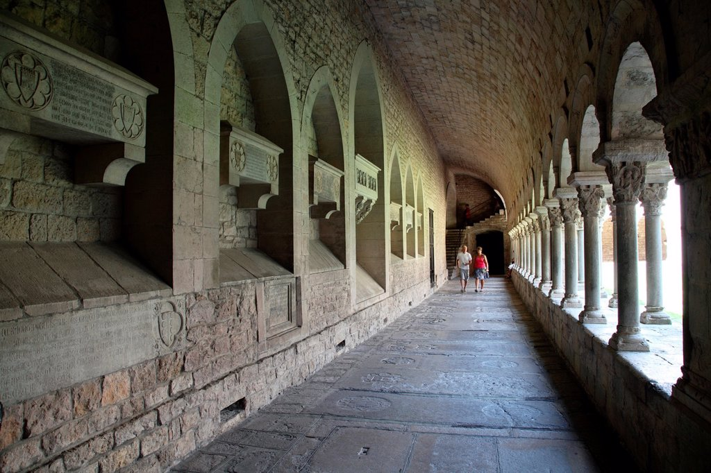 Stock Photo: 1566-961438 Cloister of the Cathedral of Girona, Spain