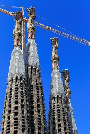 Basilica Sagrada Familia, Barcelona, Catalonia, Spain : Stock Photo