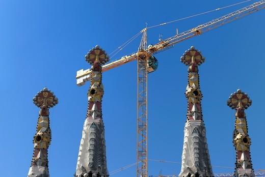 Basilica Sagrada Familia, Barcelona, Catalonia, Spain : Stock Photo
