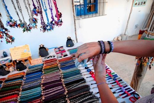 Stock Photo: 1566-963158 La Mola Hippie Market on sundays, Formentera