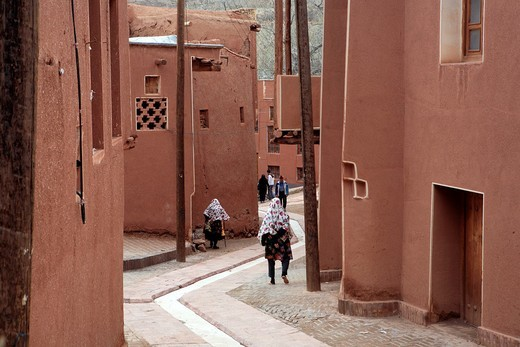 Traditional village houses, Abyaneh, province Isfahan, Iran : Stock Photo