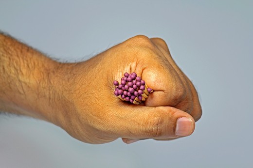 Matches in Human Hand : Stock Photo