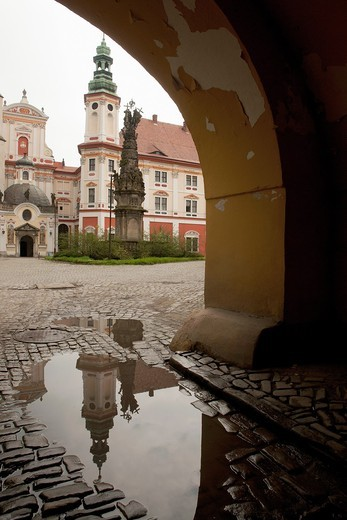 Stock Photo: 1566-964547 Henryków - the cistercians abbey from the XII century. Poland Lower Silesia region