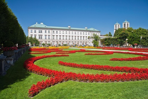 Stock Photo: 1566-964594 Mirabell Palace and Gardens in Salzburg, Austria, Europe