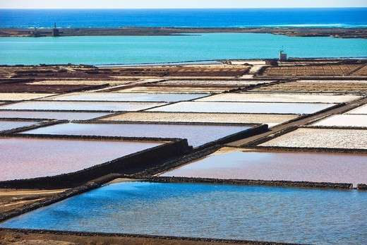 Stock Photo: 1566-964828 Salinas de Janubio  Lanzarote  Canary Islands  Spain.