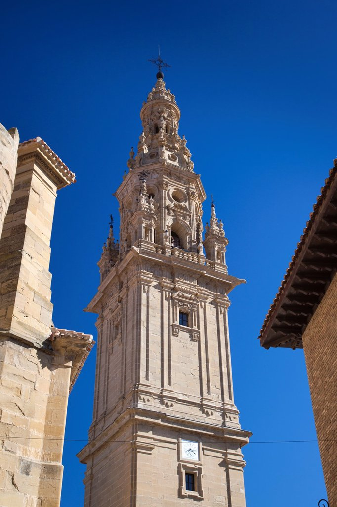 Stock Photo: 1566-967191 Spain, La Rioja Region, La Rioja Province, Santo Domingo de la Calzada, Cathedral, belltower