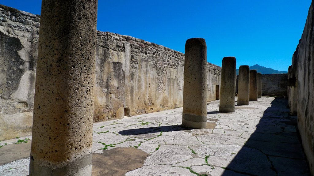 Stock Photo: 1566-968003 Mitla  Zapotec civilization  Oaxaca  Mexico