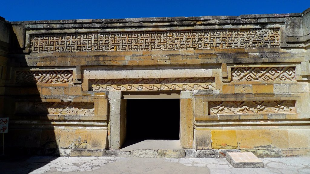 Stock Photo: 1566-968005 Mitla  Zapotec civilization  Oaxaca  Mexico