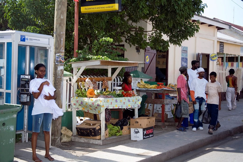 Carriacou, Market stall  Grenadines  Caribbean : Stock Photo