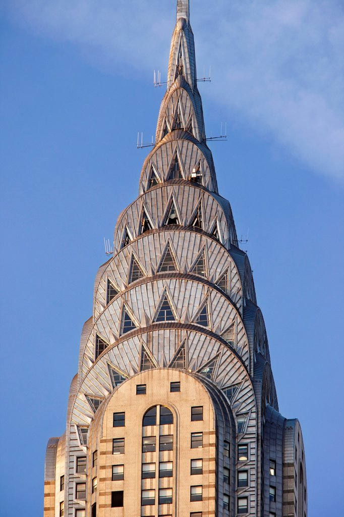 Chrysler Building in early morning light, New York City USA : Stock Photo