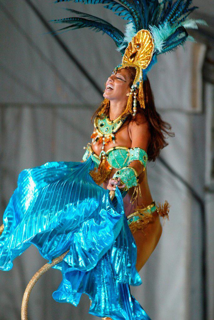 Stock Photo: 1566-969232 Rio carnival parade Rio de Janeiro Brazil