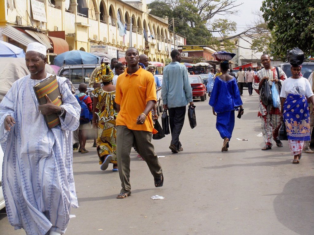 Stock Photo: 1566-969252 Street scene Banjul capital of The Gambia