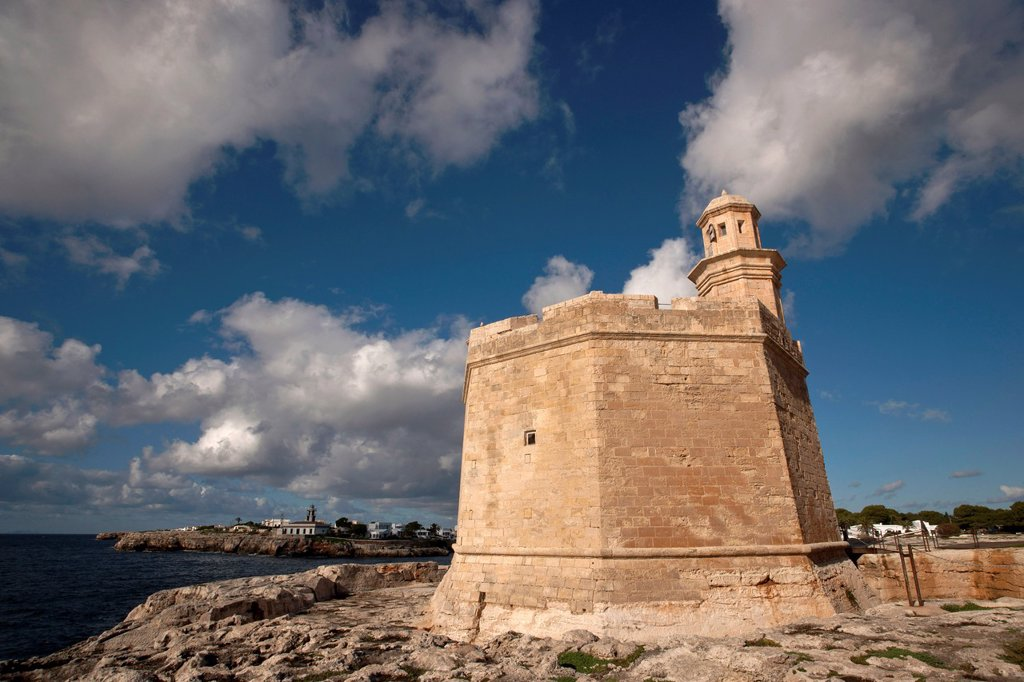 Stock Photo: 1566-969633 Castle of Sant Nicolau, XVII century, Port of Ciutadella, Menorca Spain Balearic islands