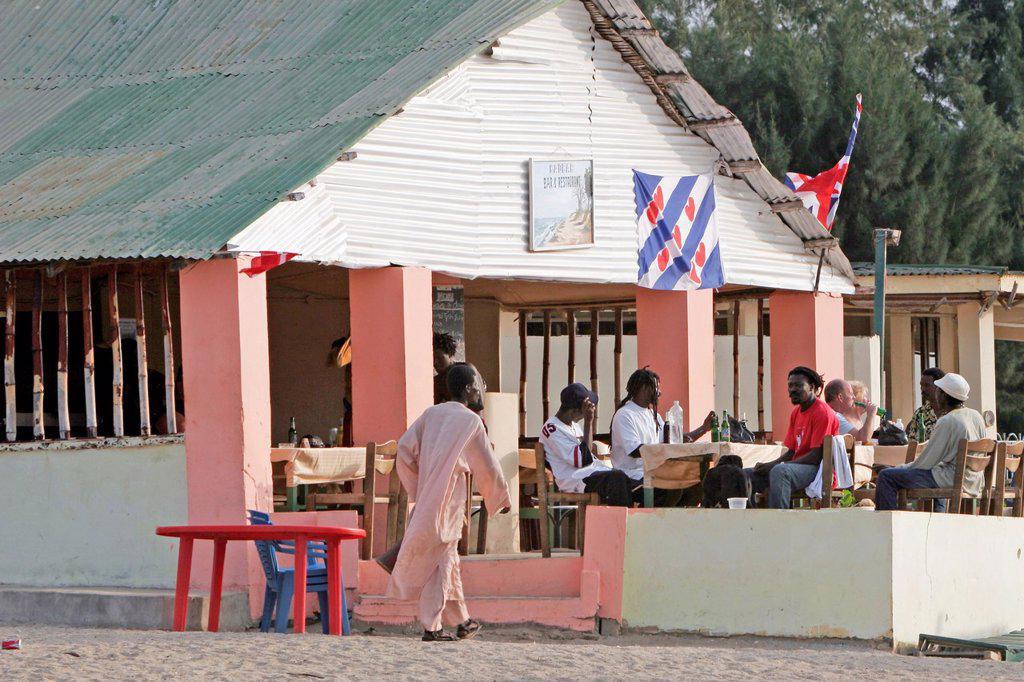 Baobab Restaurant and Bar Kololi Beach The Gambia : Stock Photo