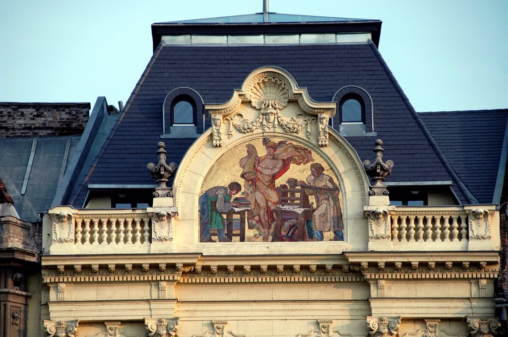 Stock Photo: 1566-970762 Hungary, Budapest Pest, Mosaic on Building