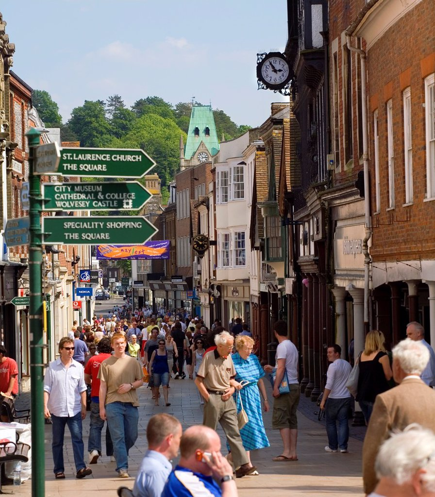 Winchester Town centre in Hampshire  UK : Stock Photo