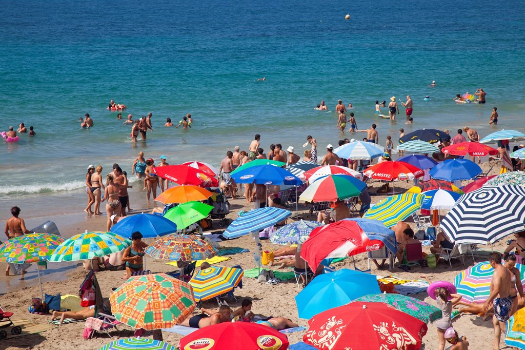 Colourful holiday beaches : Stock Photo