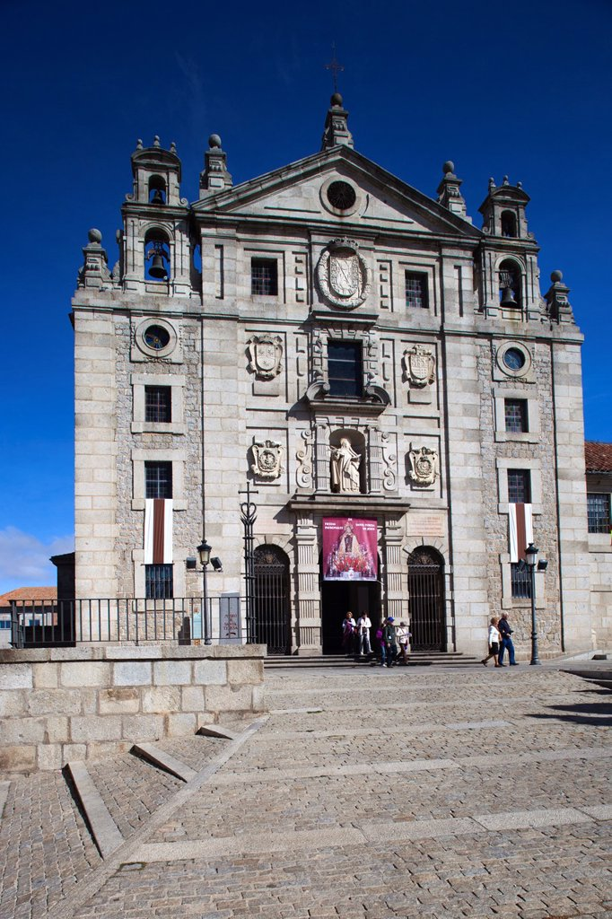Stock Photo: 1566-971950 Spain, Castilla y Leon Region, Avila Province, Avila, Convent of Saint Teresa, exterior