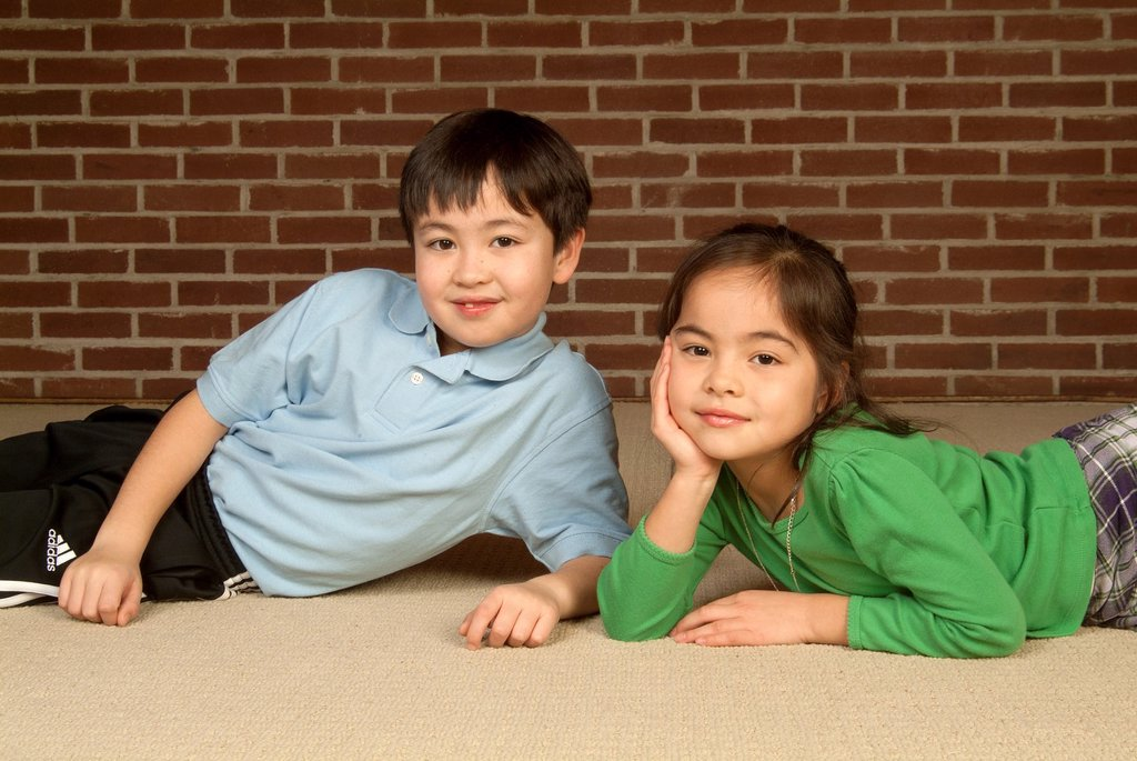 Stock Photo: 1566-972042 a brother and sister