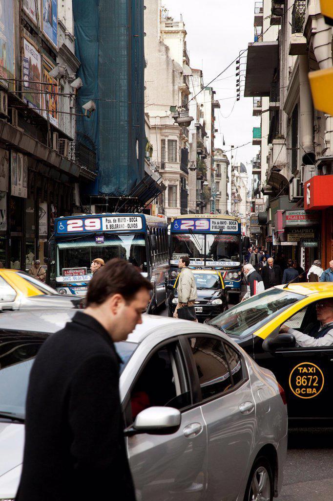 Street scene  Buenos Aires, Argentina : Stock Photo