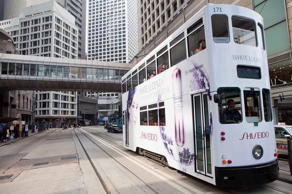 public transport in Hongkong : Stock Photo