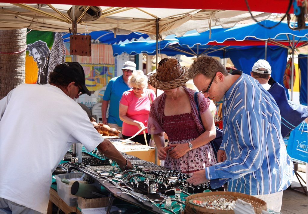 Stock Photo: 1566-973327 Market stall in St Martin French Caribbean