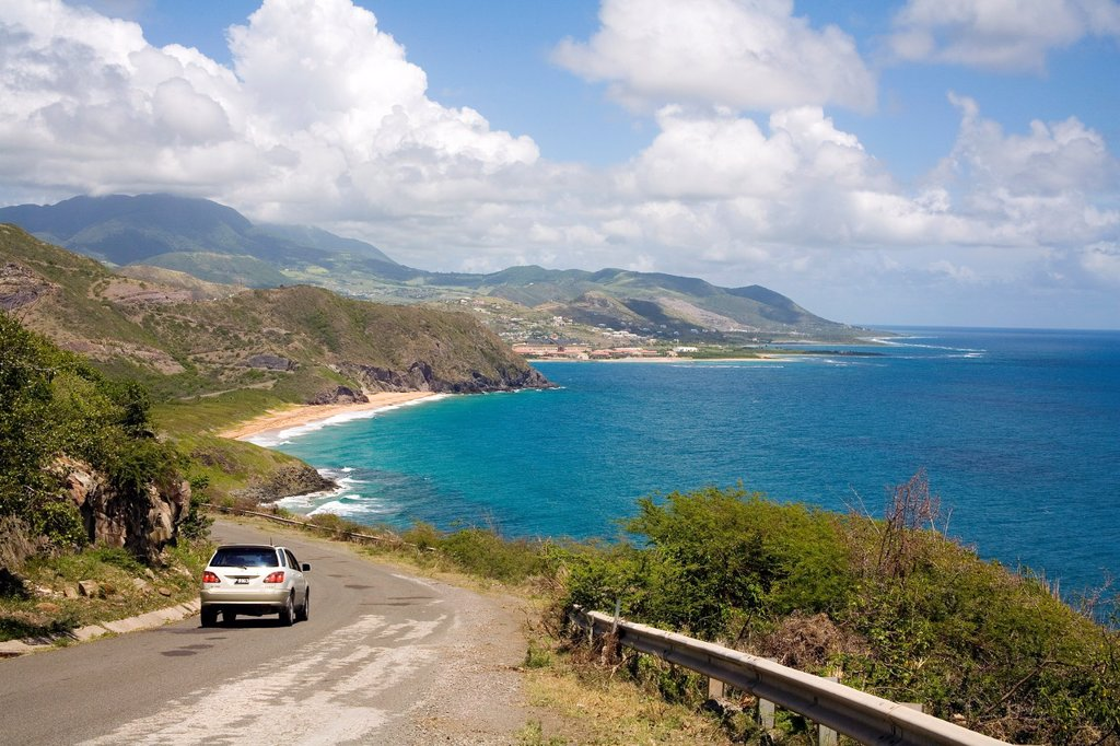 Stock Photo: 1566-974140 Atlantic Coastline of St Kitts in the Caribbean