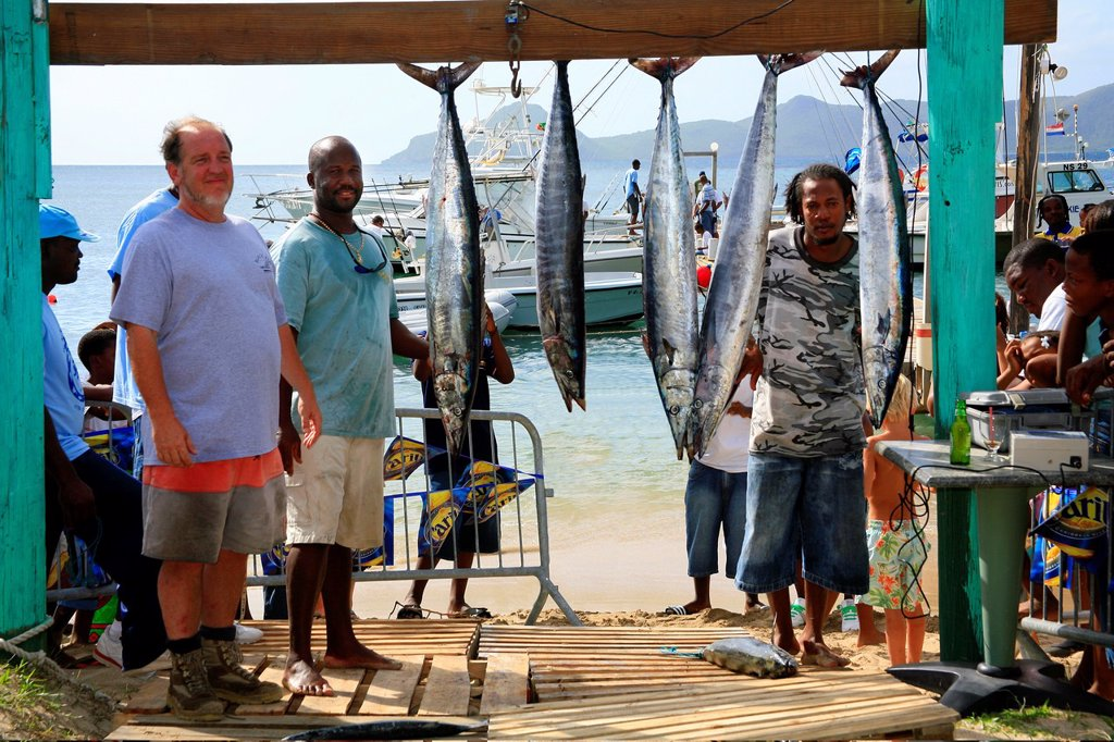 The Nevis Fishing Competition in the Caribbean : Stock Photo