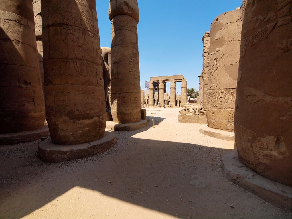 Stock Photo: 1566-974955 Colonnade. Luxor Temple. Luxor. Upper Egypt.
