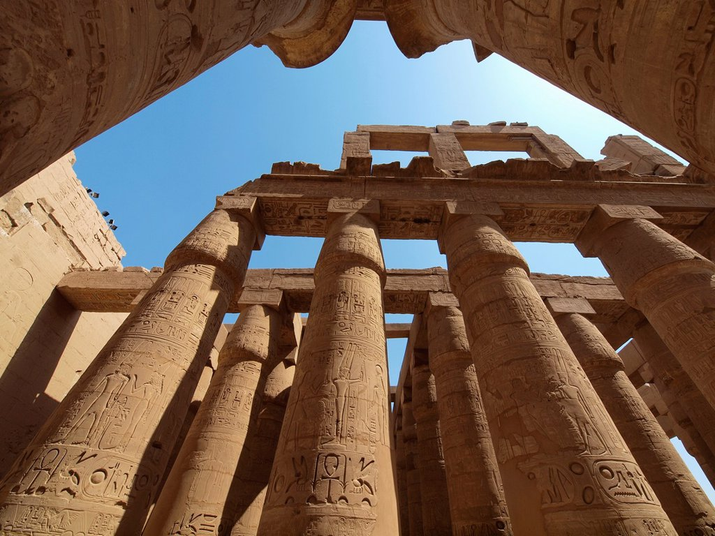 Hypostyle. Karnak Temple. Luxor. Upper Egypt : Stock Photo