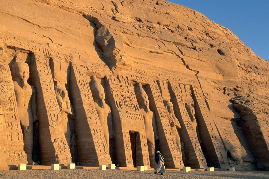 Egypt Abu Simbel Temple of Hathor : Stock Photo