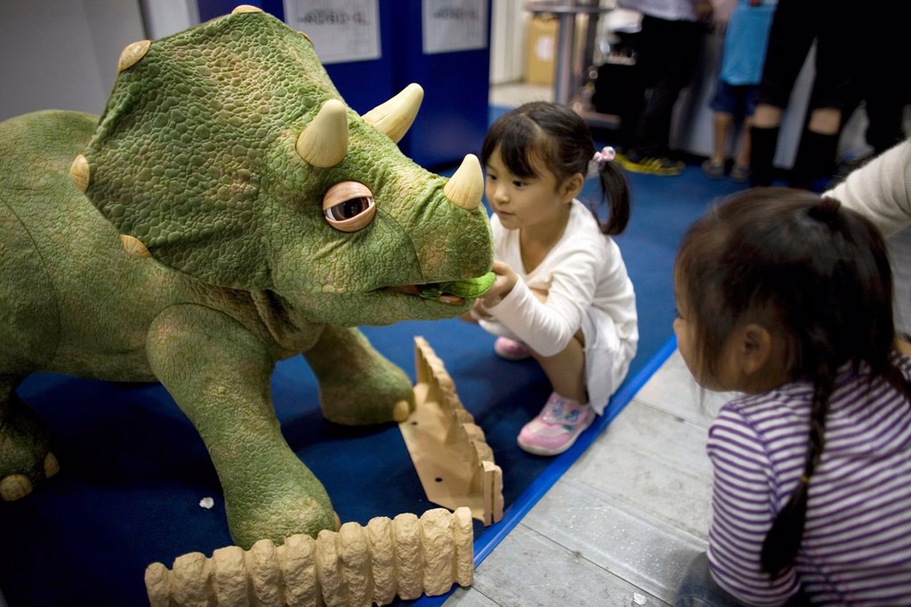 The first robot fair was held in Tokyo-Japan on 11 oct 2008 The main roboto builders showed their work at this venue There are also several types of robots for smaller children The Dino robot is the most popular one and one can buy them in all different s : Stock Photo