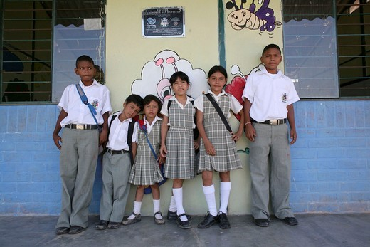 Primary school in one of the Colombian slums in Barrancabermeja : Stock Photo